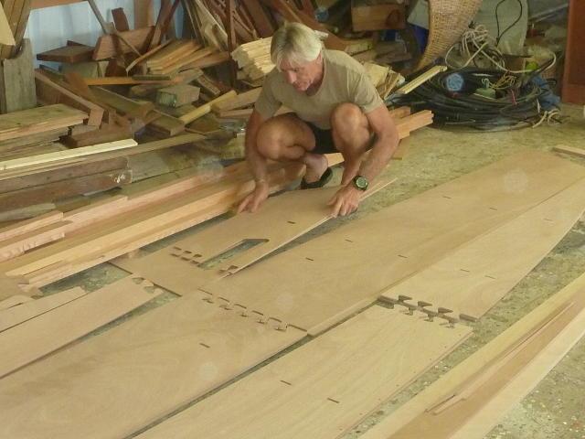 Arranging CNC cut plywood parts