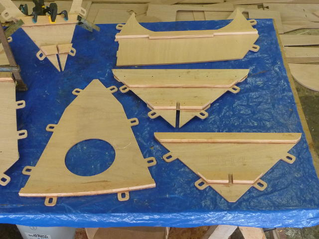 CNC cut plywood parts