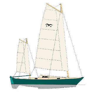 Mana 24 Sail Plan drawing