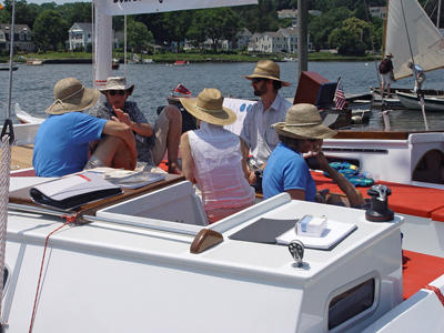 People aboard Tiki 30