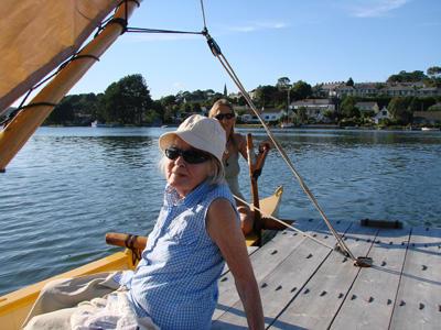 Ruth and Hanneke aboard Tahiti Wayfarer
