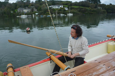 Michael rowing Amatasi