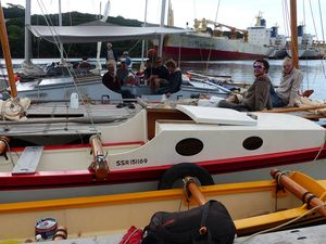 Wharram boat rafted together