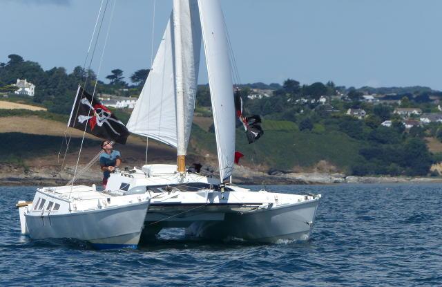 Tiki 30 sailing