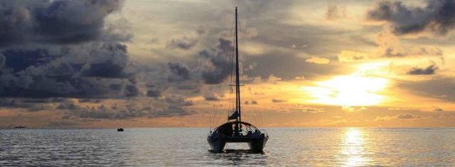 Wharram boat at sunset
