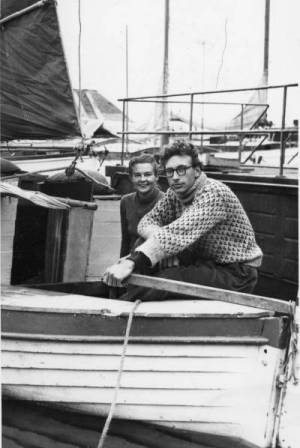 James and Ruth aboard a small boat