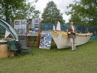 James at the Wharram Designs stand at Beale Park