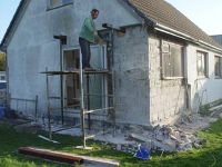 Work being carried out on Wharram HQ exterior