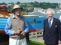 Patrick Ellam and Colin Mudie with boat