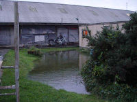 Wharram HQ flooded