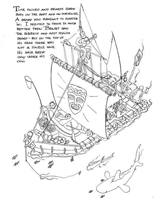 Kon-Tiki Voyage drawing