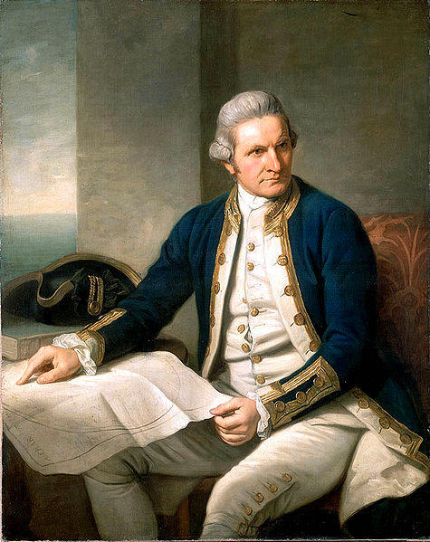 Depiction of Captain Cook