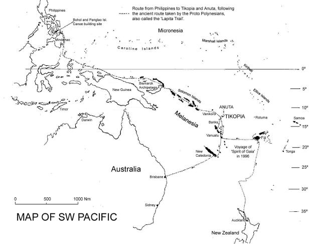 Map of South West Pacific