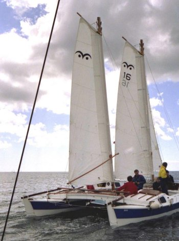 Tiki 31 with Wharram Wingsail Schooner Rig