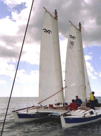 Tiki 31 with schooner rig
