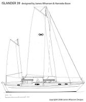 Islander 39 sail plan drawing