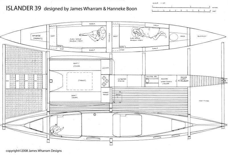 Islander 39 plan drawing