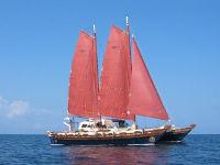 Islander 55 sailing