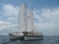 Islander 65 sailing - starboard view