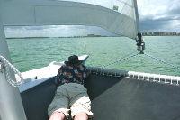 Tiki 8m bow trampoline