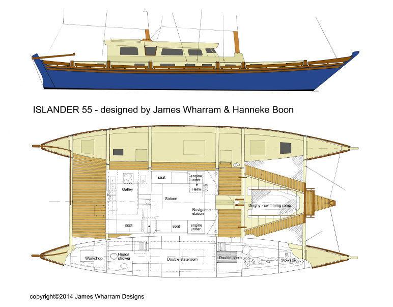 Islander 55 interior drawing