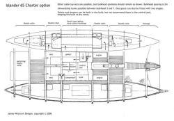 Islander 65 Charter layout