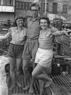 James, Ruth and Jutta on Tangaroa