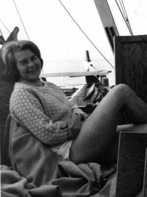Ruth Wharram on deck