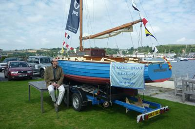 James with Sopranino, a dinghy style boat
