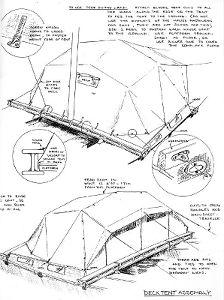 Tiki 21 decktent drawing