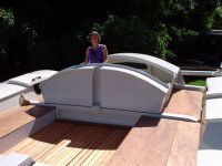 Woman in deckpod
