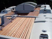 Slatted decks on Wharram boat