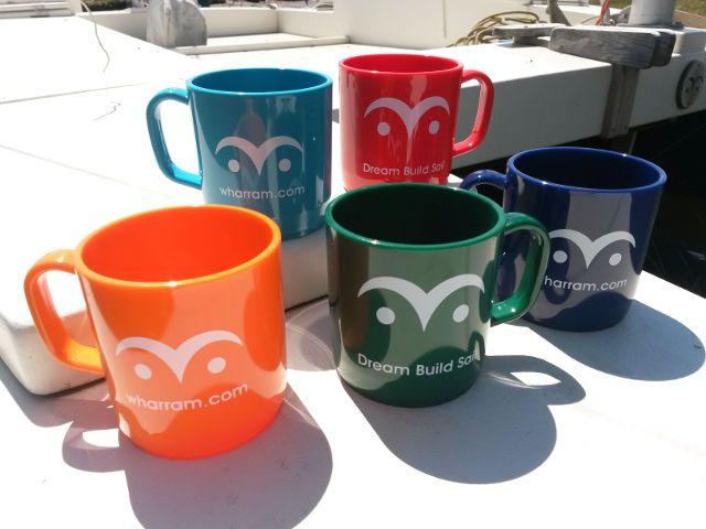 Mugs with Wharram eye symbol