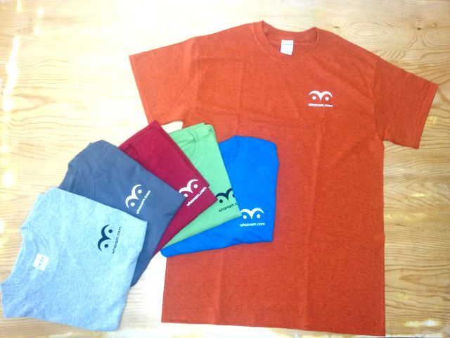 Left to Right: Sport Grey, Charcoal, Antique Cherry Red, Kiwi, Antique Sapphire, Antique Orange