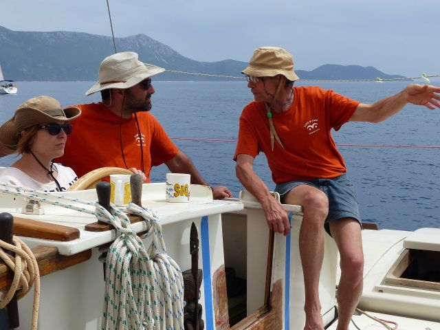 Gaia crew with matching orange T-Shirts