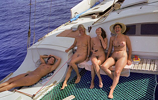Naked women on Spirit of Gaia