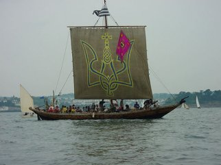 Cossack boat with square sail