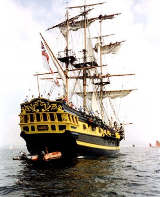 A large 18th century frigate replica