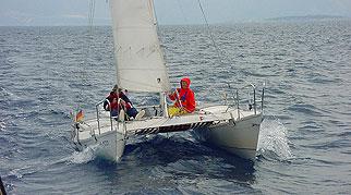 Tiki 21 under sail