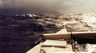 View from Tiki 21 at sea