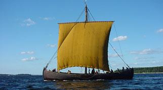 Viking Knarr boat