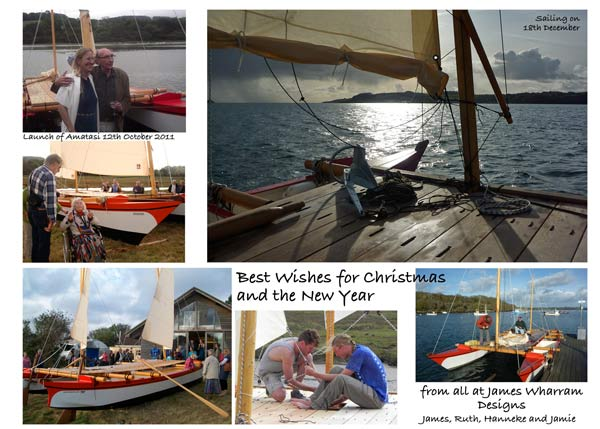 Best wishes for Christmas and the new year, from all at James Wharram Designs - James, Hanneke, Ruth and Jamie