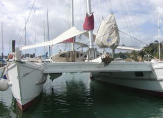 Tiki 38 in marina