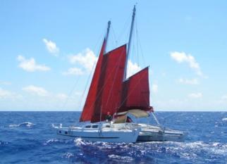 Tiki 38 sailing